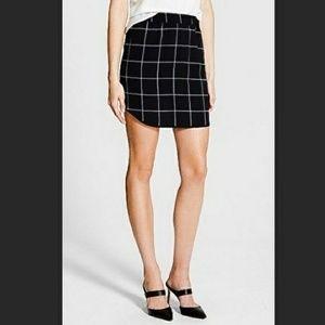 TROUVE Black Chiffon Grid Mini Skirt Emo Goth